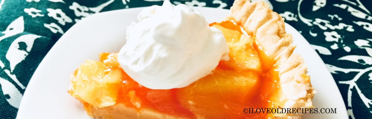 How To Bake An Orange Fruit Pie From 1960s