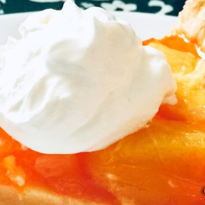 retro orange fruit pie