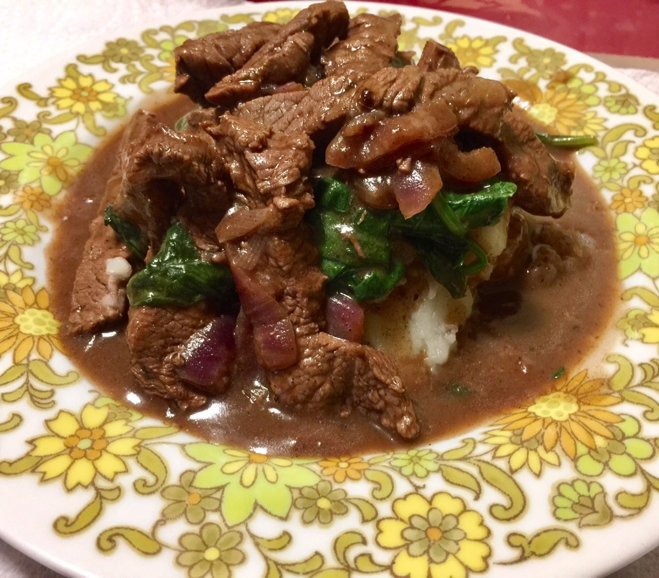 Beef In Red Wine Sauce 1900s